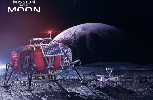 Vodafone, Nokia and SpaceX to install 4G mobile phone network on the moon