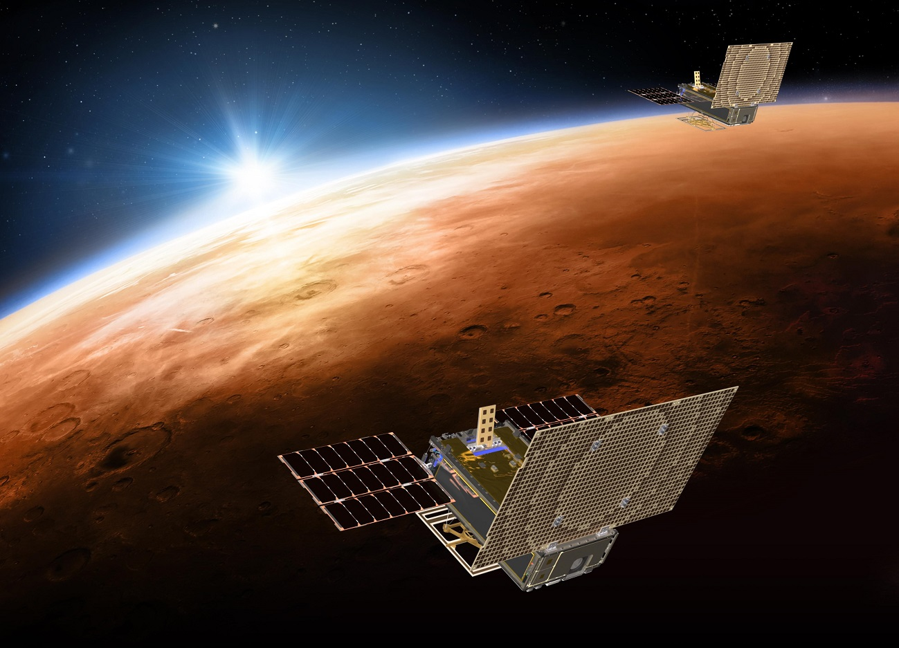 Cubesats over Mars