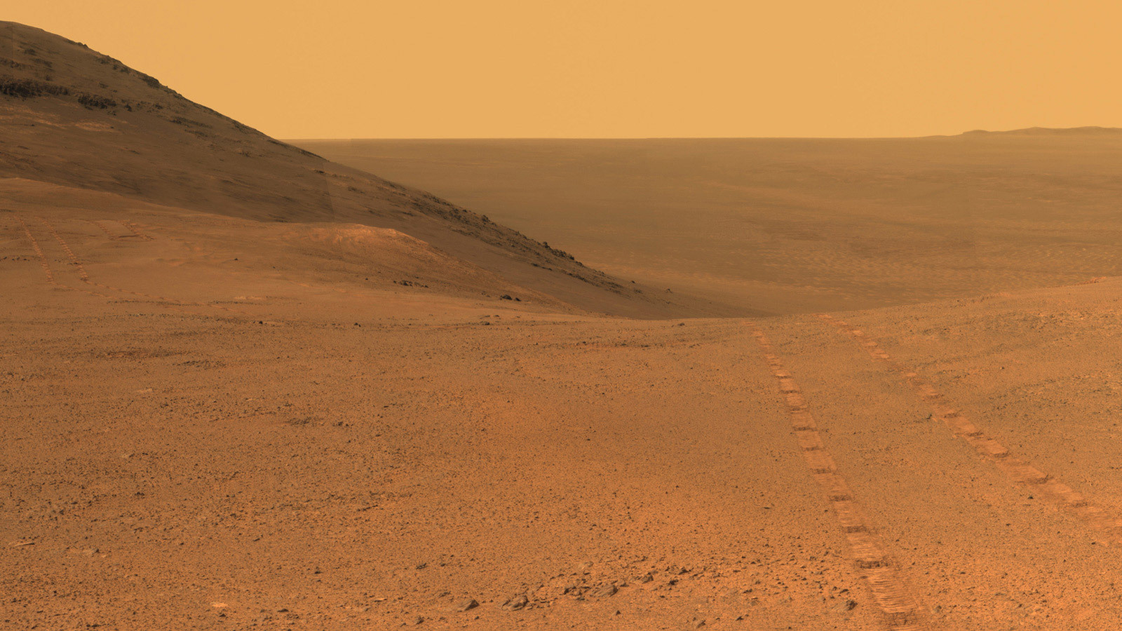Mars Surface - Rover Tracks
