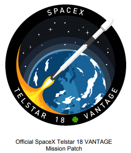Telstar 18 VANTAGE Mission Patch