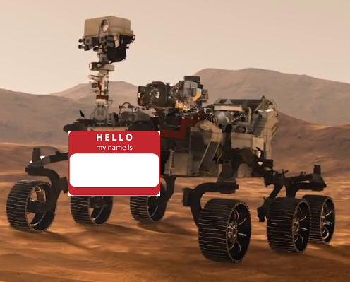 Mars 2020 Rover Naming Contest